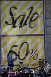 SALE AT DEPARTMENT STORE MAGASIN DU NORD Stock Photo