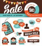 Sale design elements Royalty Free Stock Photos