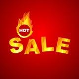Sale design. Fiery hot sale design a geometric illustrations Royalty Free Stock Image