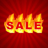 Sale design. Fiery hot sale design a geometric illustrations Royalty Free Stock Images