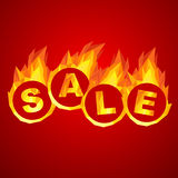 Sale design. Fiery hot sale design a geometric illustrations Royalty Free Stock Photography