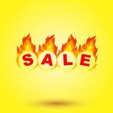 Sale design. Fiery hot sale design a geometric illustrations Stock Photography