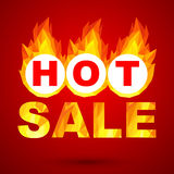 Sale design. Fiery hot sale design a geometric illustrations Royalty Free Stock Photo