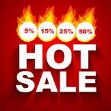 Sale design. Fiery hot sale design a geometric illustrations Royalty Free Stock Photos