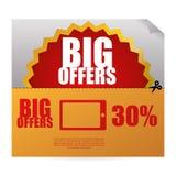 Sale design. offer icon.  illustration Stock Image