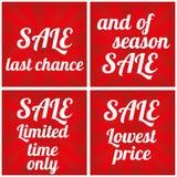 Sale design template. Final sale. Big Sale vector design template stock illustration