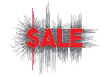 `Sale` design template grunge style. Royalty Free Stock Photos