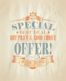Sale design template in retro style. Eps10 Stock Photos