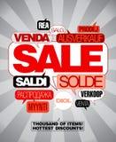 Sale design template. Stock Image