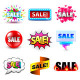 Sale design titles icons vector set Royalty Free Stock Image
