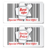 Sale Design. on torn barcode Stock Images