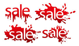 Sale designed text Stock Images