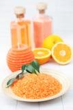 Sale di bagno arancione Fotografia Stock Libera da Diritti