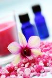 Sale di bagno del fiore fotografie stock libere da diritti