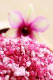Sale di bagno del fiore fotografia stock libera da diritti