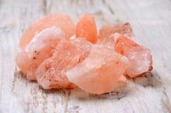Sale di cristallo rosa himalayano Fotografia Stock