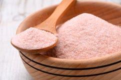 Sale di cristallo rosa himalayano Immagine Stock Libera da Diritti