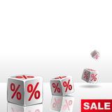 Sale dice Stock Image
