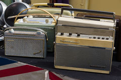 Sale of different vintage radios Stock Photos