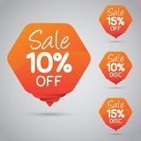10% 15% Sale, Disc, Off on Cheerful Orange Tag for Marketing Retail Element Design. 80% 85% Sale, Disc, Off on Cheerful Orange Tag for Marketing Retail Element vector illustration