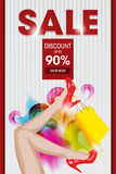 Sale Discount Ad Template Stock Photography