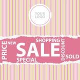 Sale discount advertisement Stock Photos