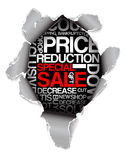 Sale discount advertisement Stock Image
