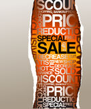 Sale discount advertisement Royalty Free Stock Photo