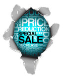 Sale discount advertisement Stock Photography