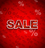 SALE Discount Background. SALE Discount on red  background Stock Images