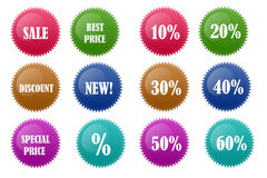 Sale Discount Badge Stock Image