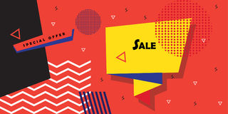 Sale discount banner Abstract modern art Royalty Free Stock Photo