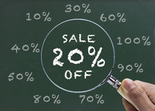 Sale 20% discount Royalty Free Stock Photo