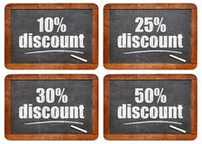 Sale discount blackboard sign Royalty Free Stock Photos