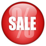 Sale discount button. Isolated on white Stock Images