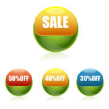 Sale and discount buttons Stock Photo
