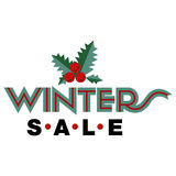 Sale and discount card, banner, flier. Winter sale title. Mistletoe, hand drawn letters composition isolated on background. Vector Stock Images
