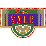 Sale and discount card, banner, flier. Winter sale title Royalty Free Stock Photos