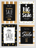 Sale and Discount Christmas Flyers 2 Stock Photo