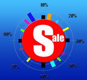 Sale and discount clock design Stock Images