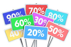 Sale and discount concept. 3D rendering Royalty Free Stock Photos