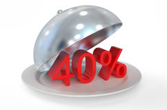 40 %,  sale and discount concept. Isolated on white background Royalty Free Stock Image