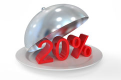 20%,  sale and discount concept. 20 %,  sale and discount concept  isolated on white background Royalty Free Stock Images