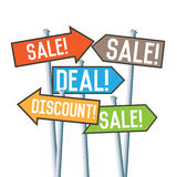 Sale Discount Deal Signs Stock Images