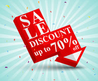 Sale discount Design Stock Photo