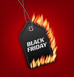 Sale Discount with Fire Flame for Black Friday. Illustration Sale Discount with Fire Flame for Black Friday. Hot Sales, Template for Discount, Label, Coupon Stock Images