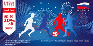 2018 World Cup Russia football Sale sign Royalty Free Stock Images