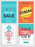Sale and Discount Flyers vector illustration
