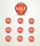 Sale discount  glossy Stock Photography