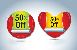 Sale and discount icon Royalty Free Stock Photo